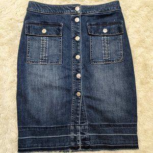 Abercrombie & Fitch Denim Button Down Skirt 27